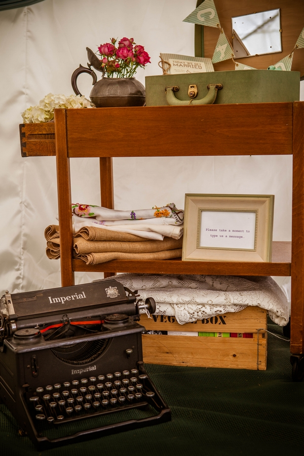 Old typewriter and other vintage items