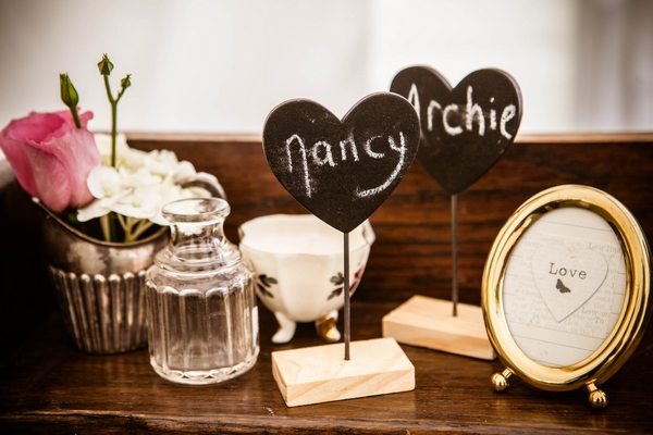 Heart chalk signs