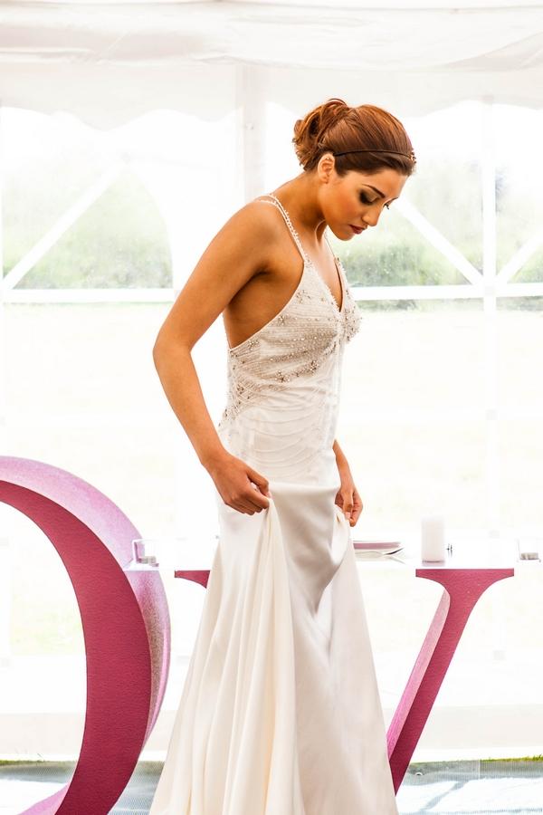 Bride in long dress