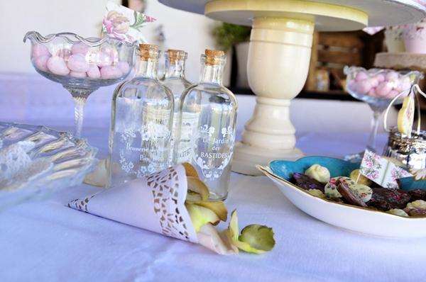 Bottle and cone of confetti