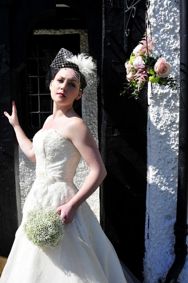 Bride standing by door