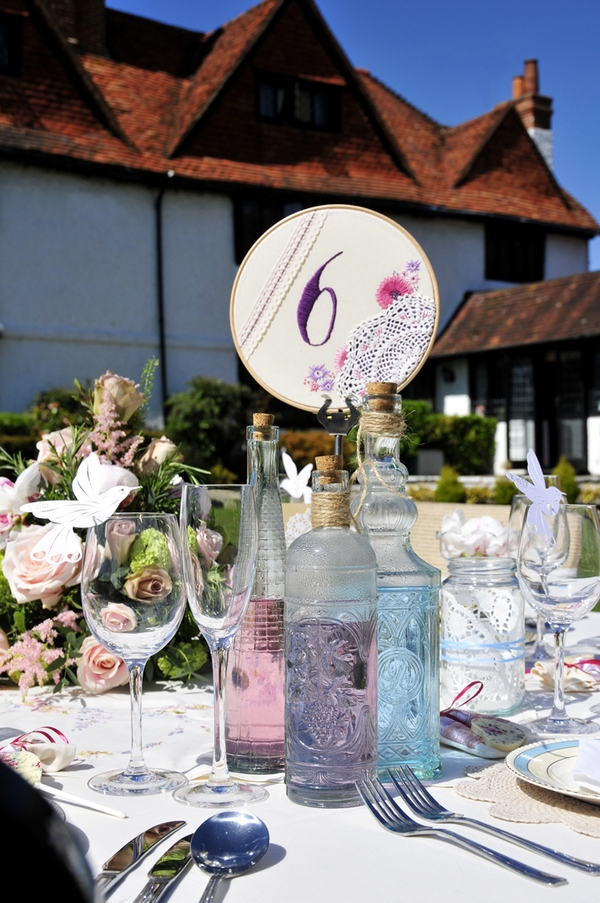 Wedding table with number six table number