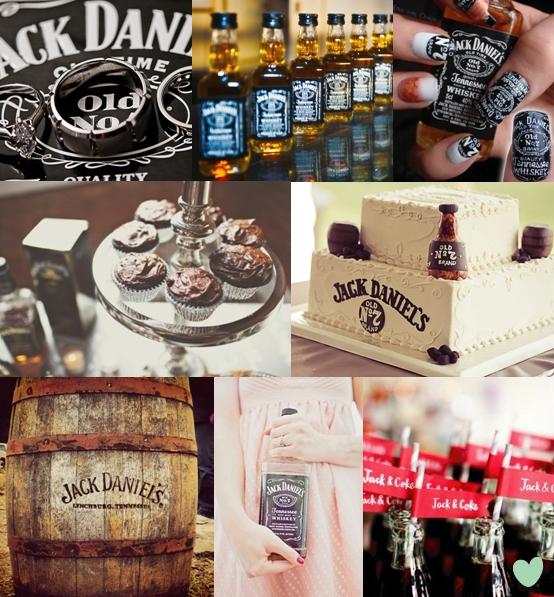 Jack Daniel's Wedding Theme Mood Board
