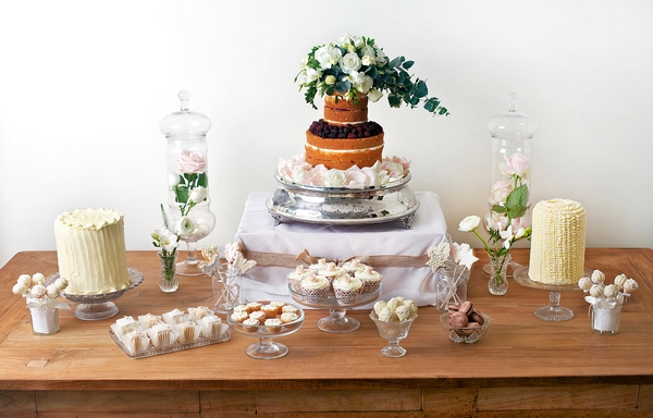 Rustic Dessert Table with Niamh Cake - The Abigail Bloom Cake Company