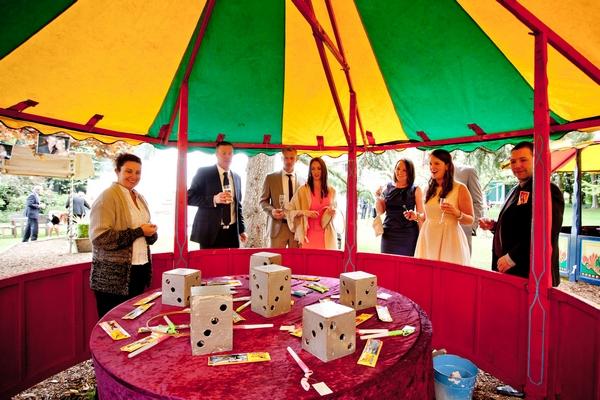 Funfair game at wedding