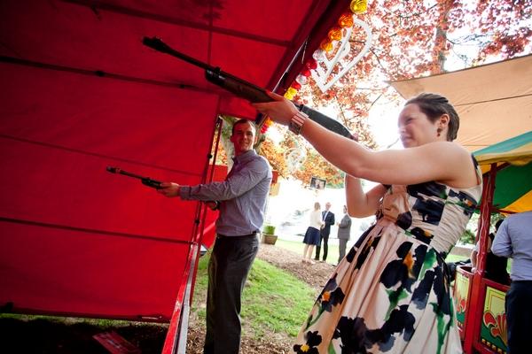 Shooting range at wedding