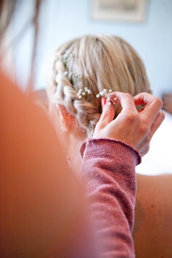 Braid bridal hair