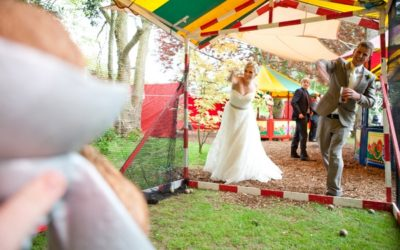A Fun, Relaxed and Pretty Garden Wedding with Funfair