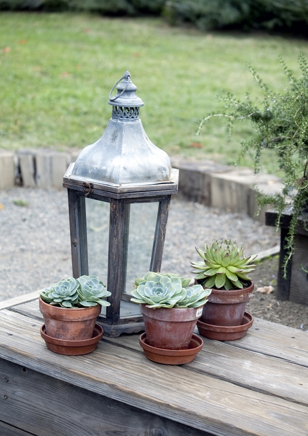 Old lamp and pots