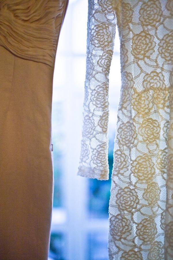 Detail on bridesmaid dresses