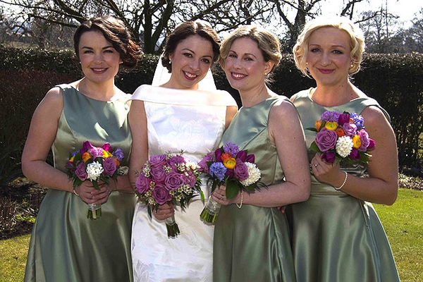 Bride and bridesmaids - Hair and Makeup by Claire Salter