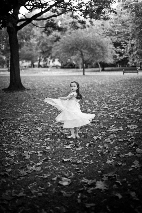 Flower girl twirling