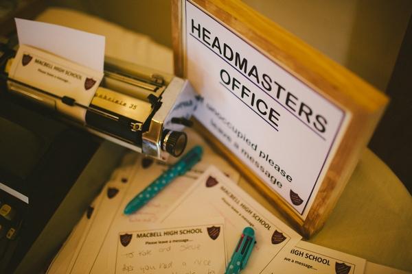 Headmasters Office sign