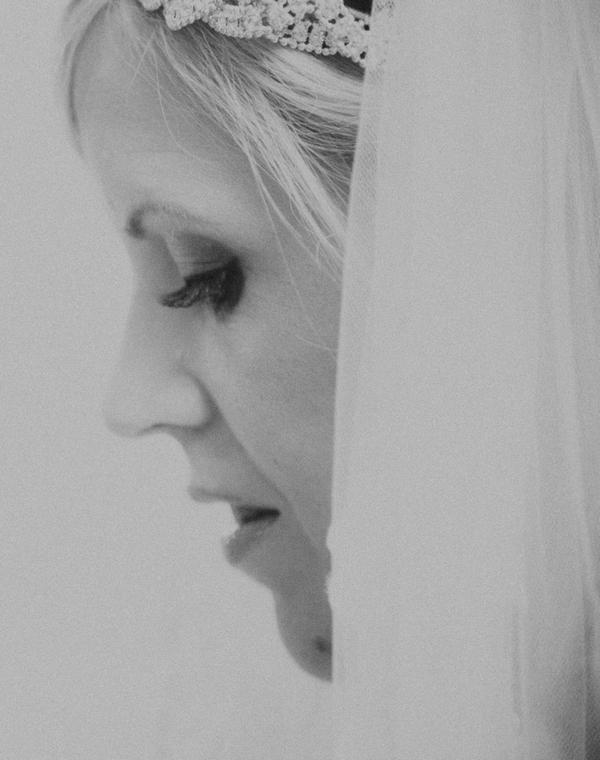 Bride's face