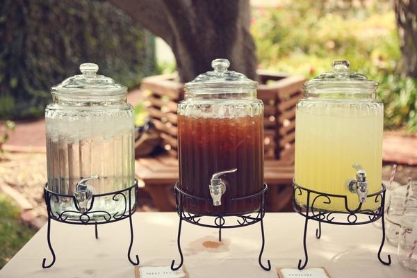 Jars of drinks