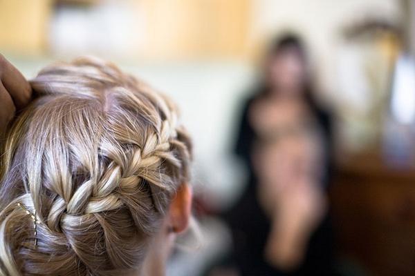Bride with hair braid