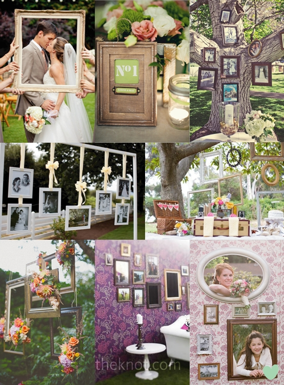 Picture Frame Wedding Decorations Mood Board