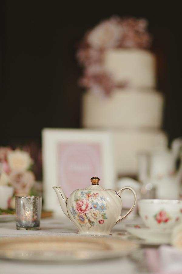 Teapot on wedding table