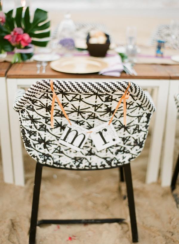 Mr wedding chair