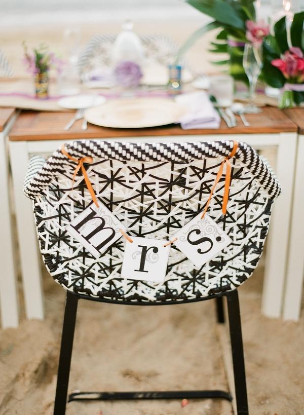 Mrs wedding chair