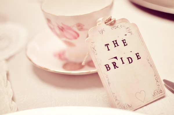 The Bride wedding table name tag