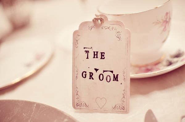 The Groom wedding table name tag
