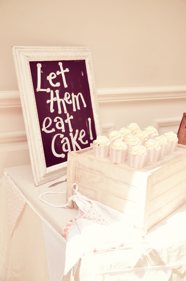 Let them eat cake sign
