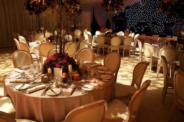 Wedding tables styled by Dream Occasions