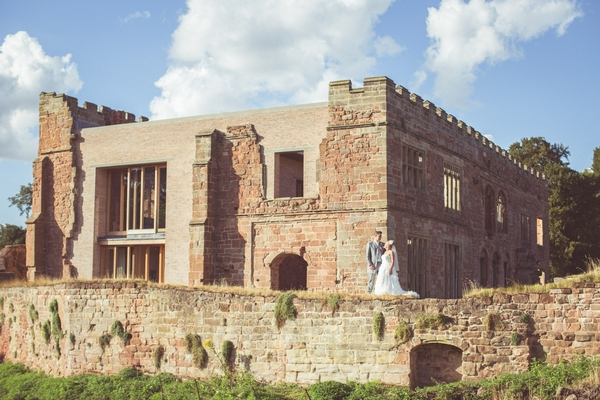 Bride and groom at Astley Castle