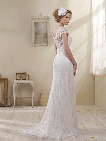 Back of 8501 Wedding Dress - Alfred Angelo Modern Vintage Bridal 2014 Bridal Collection