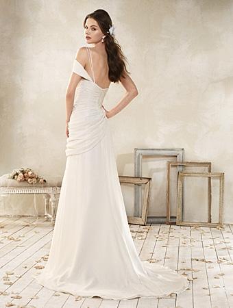 Back of 8514 Wedding Dress - Alfred Angelo Modern Vintage Bridal 2014 Bridal Collection
