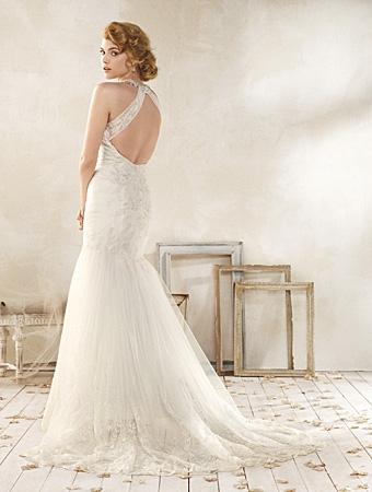 Back of 8515 Wedding Dress - Alfred Angelo Modern Vintage Bridal 2014 Bridal Collection