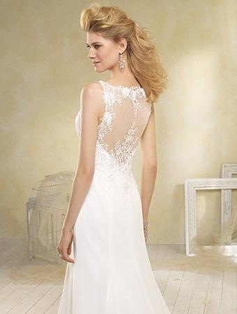 Back of 8517 Wedding Dress - Alfred Angelo Modern Vintage Bridal 2014 Bridal Collection