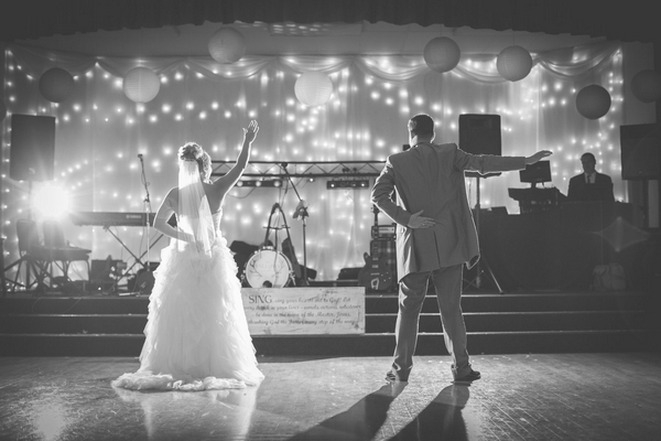 Bride and groom first dance routine