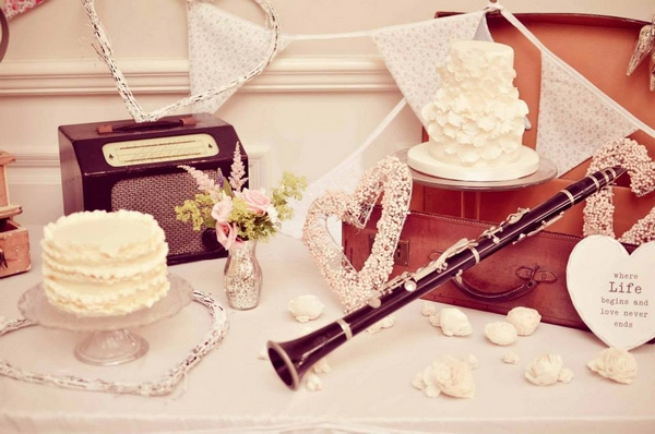 Vintage props for a shabby chic wedding