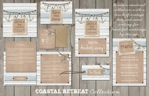 Coastal Retreat Wedding Stationery - Lucy Ledger Designs