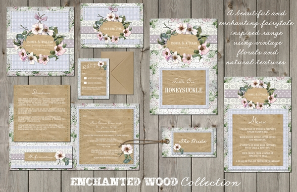 Enchanted Wood Wedding Stationery - Lucy Ledger Designs