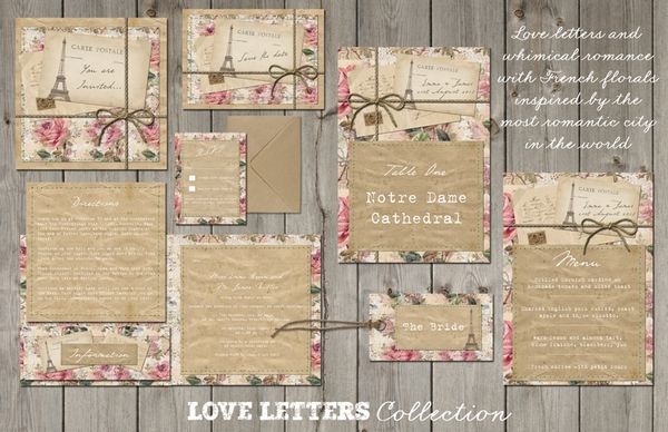 Love Letters Wedding Stationery - Lucy Ledger Designs