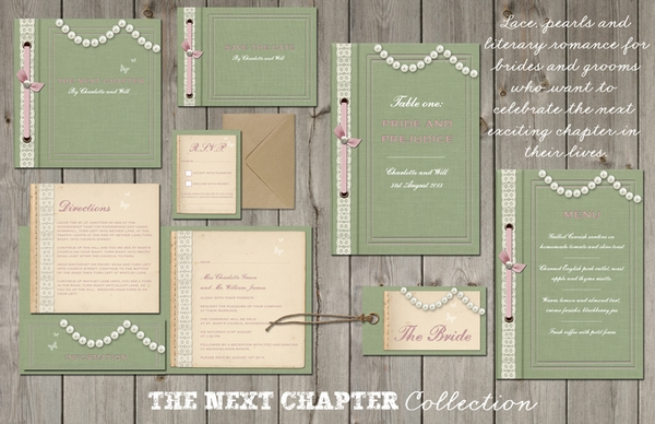 Next Chapter Wedding Stationery - Lucy Ledger Designs