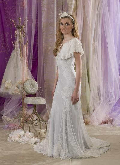 Something Blue Wedding Dress with Cape - Terry Fox Much More Muchier 2014 Collection