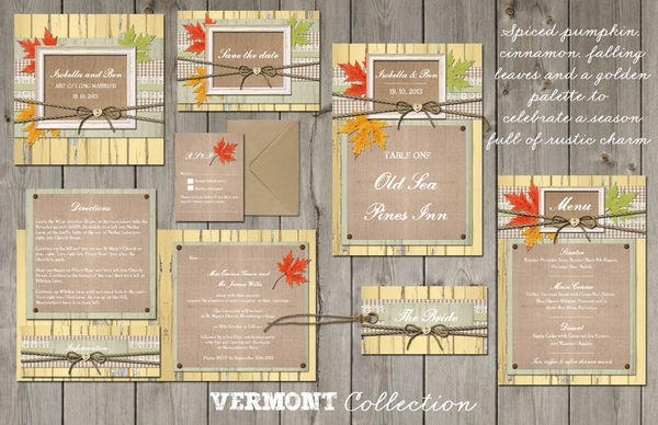 Vermont Wedding Stationery - Lucy Ledger Designs