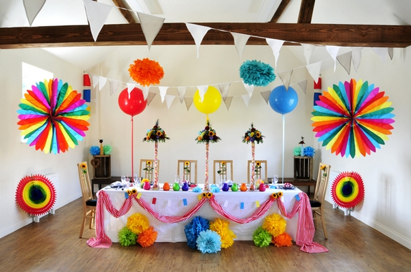 Carnival wedding themed table