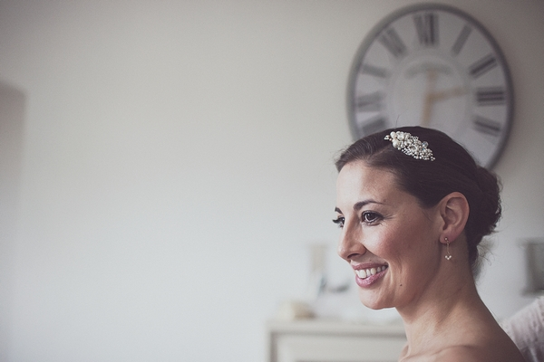 Bride with hair clip