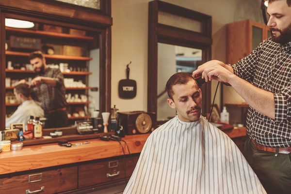 Man having hair cut