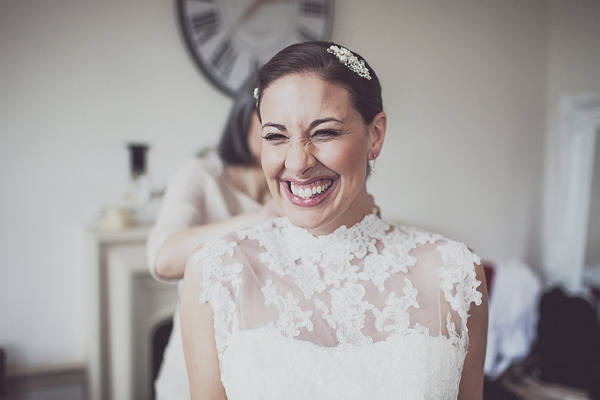 Bride in lace dress