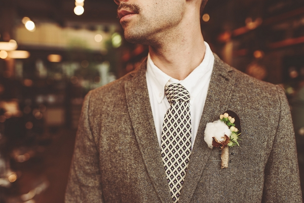 Man with black and white tie