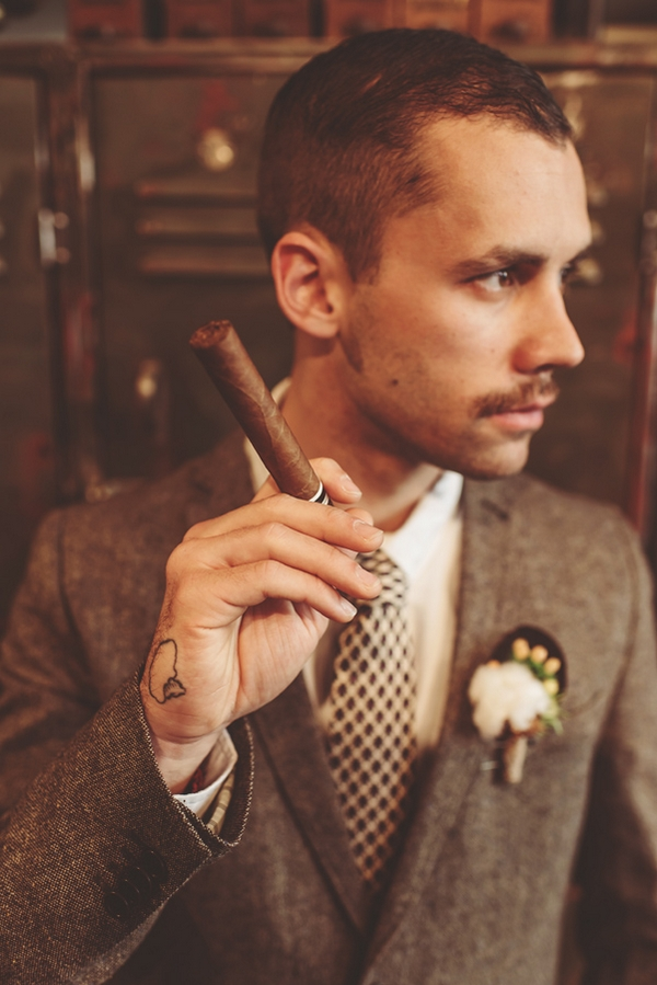 Man holding cigar