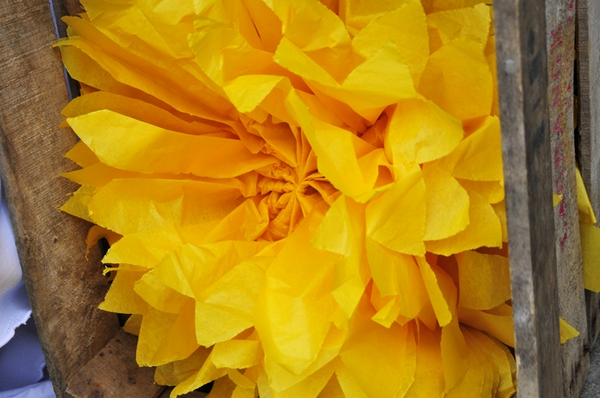 Yellow paper flower