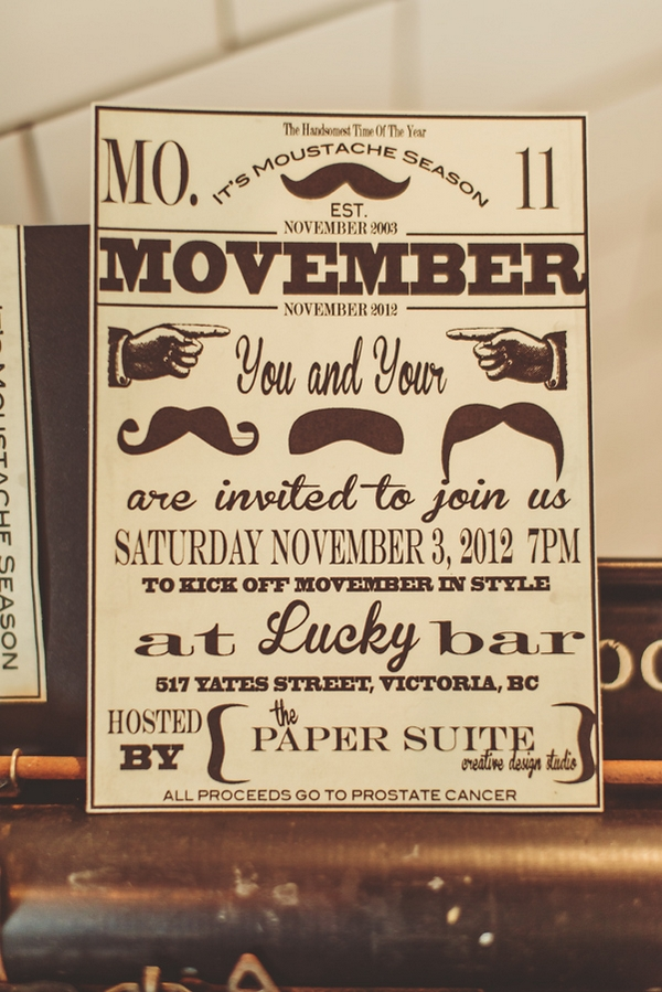 Movember invitation
