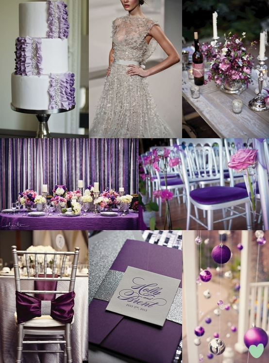 Purple And Silver Wedding Colour Scheme The Wedding